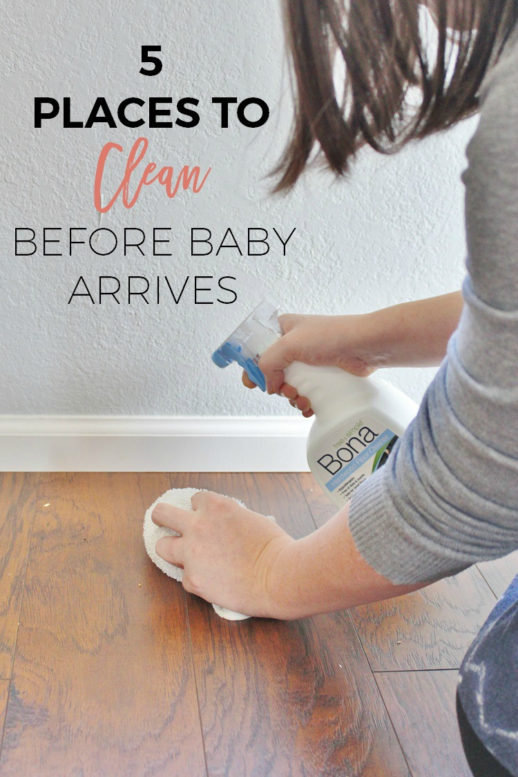 Five places you need to clean before the baby comes!