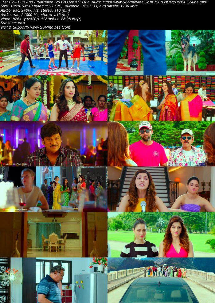 F2 Fun And Frustration (2019) UNCUT Dual Audio Hindi 720p HDRip ESubs Movie Download