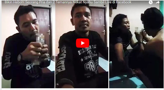 Video Pria Nyabu Sambil Live di Facebook Dengan Temannya