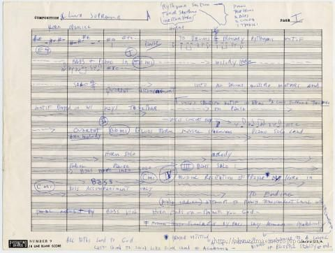 A Love Supreme - John Coltrane's handwritten outline