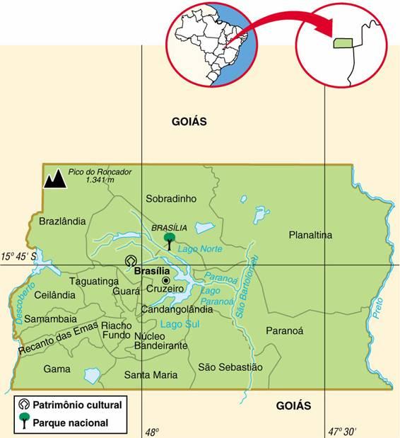 DISTRITO FEDERAL (DF), ASPECTOS GEOGRÁFICOS E SOCIOECONÔMICOS DO DISTRITO FEDERAL