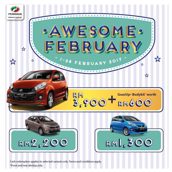 Promosi Perodua Bulan February 2017