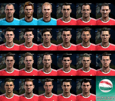PES 2013 Face Pack Hungary By Bradpit62