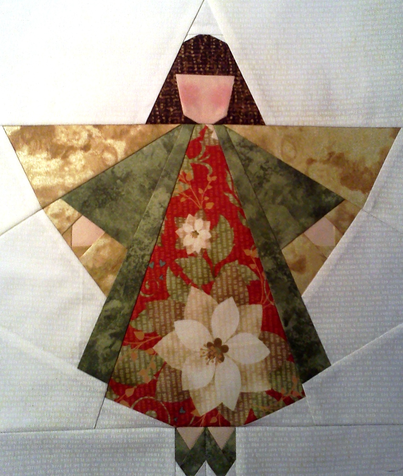 Paper Pieced Christmas Tree Pattern: Larkspur Lane Designs: Just Finished Another Christmas Angel