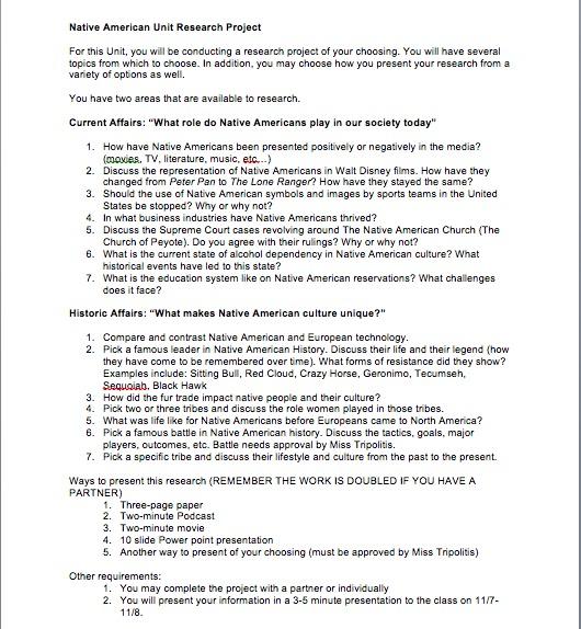 Native American Essay Topics