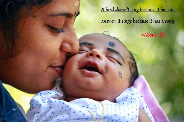 A bird doesn't sing because it has an answer, it sings because   it has a song.