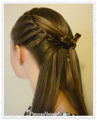 """Cross bow hairstyle."" Faux french braids and bow, video tutorial."