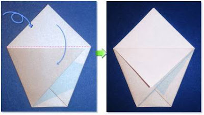 Langkah - langkah dalam membuat mangkuk dari kertas lipat