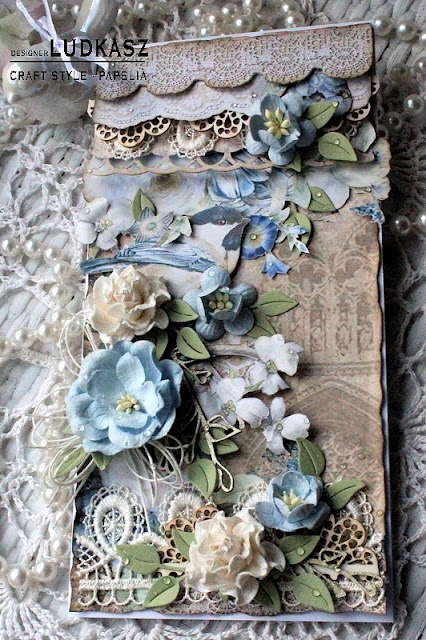 Wiosenna romantyczna kartka -DT Craft Style