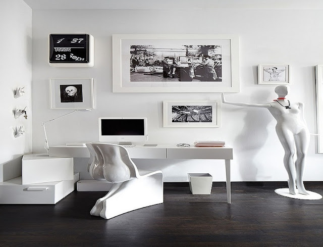 best buy white contemporary home office furniture collections for sale