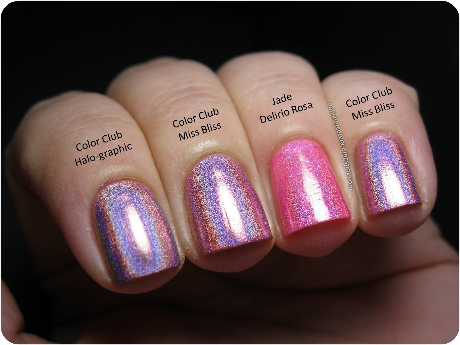 Color Club Holo Hues 2013 Swatches and Comparisons! - Polish Etc.