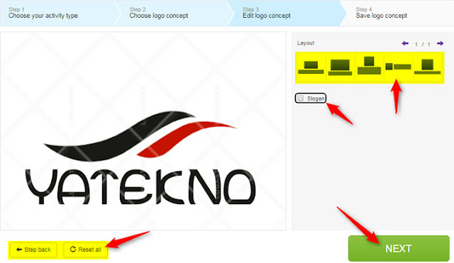 Step 3: Edit logo concept