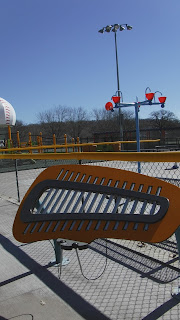 xylophone in the sensory playspace at the adaptive playground at Miracle Field in Riverside Park in Sioux City, Iowa