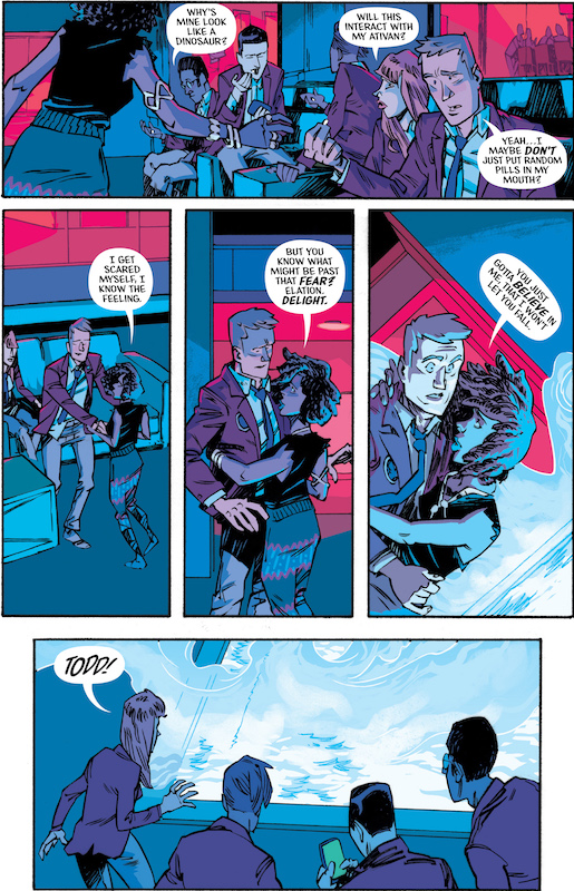 Black Cloud #1, Story: Ivan Brandon, Jason Latour Art: Greg Hinkle Colors: Matt Wilson, Dee Cuniffe Letters: Aditya Bidikar Design: Tom Muller.