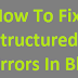How To Fix All Structured Data Errors In Blogger.