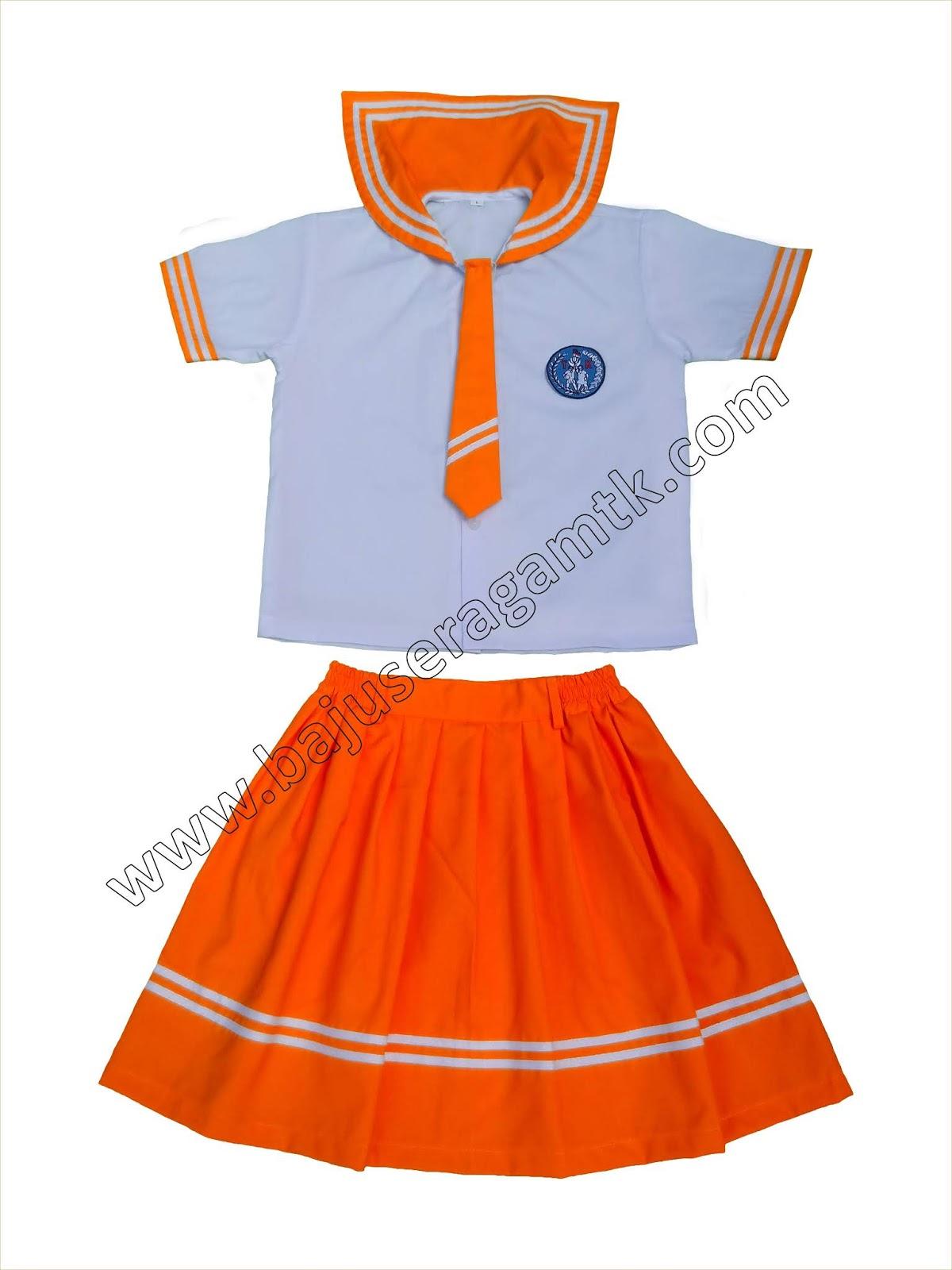 jual baju seragam TK PAUD model sailor korea