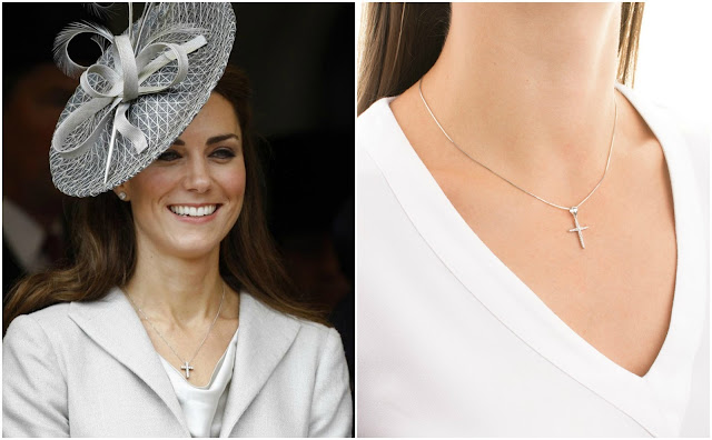 Naszyjnik księżnej Kate z krzyżem