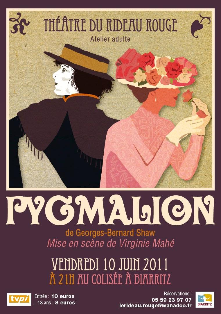 Pygmalion affiche de théâtre