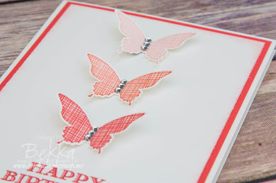 Make in a Moment Ombre Butterflies Take 2 made using Stampin' Up! UK supplies - get them here
