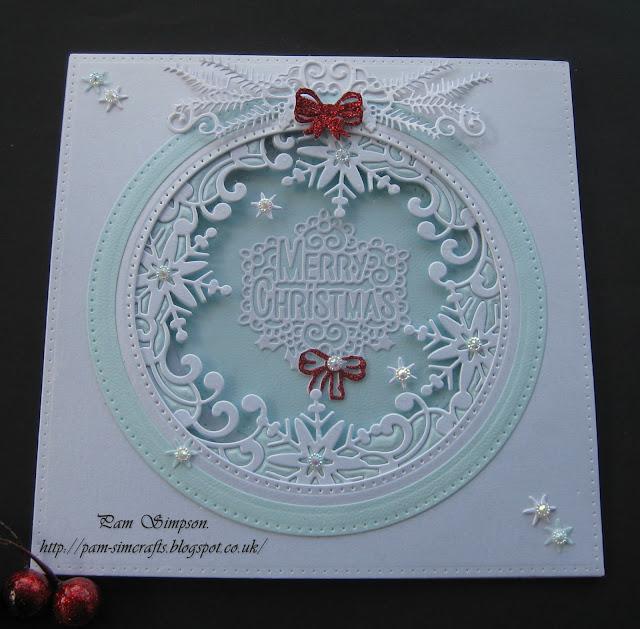 Pamscrafts Acetate Window Snowflake Circle