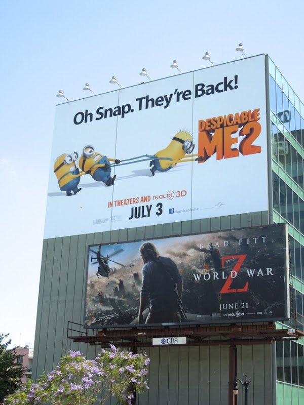 Giant Despicable Me 2 movie billboard