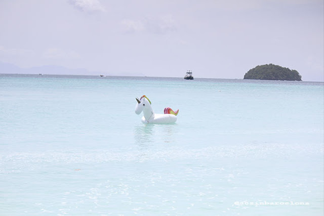 A unicorn floating in Ko Lipe, Thailand