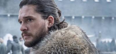 O ator Kit Harington no episódio Winterfell, o primeiro da oitava e última temporada de Game of Thrones