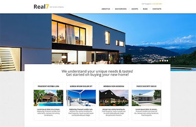 Bluish Real Estate Responsive WordPress Theme