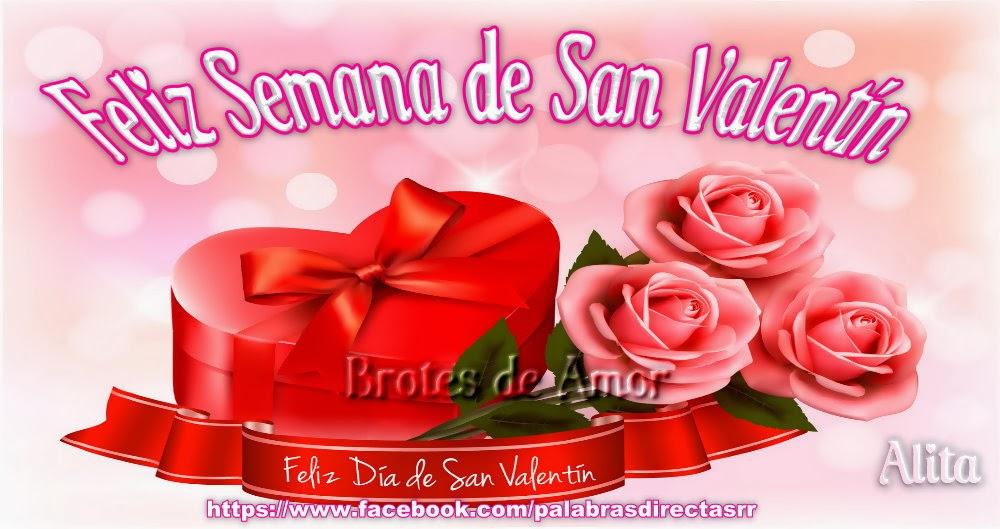 Brotes De Amor Feliz Semana De San Valentín