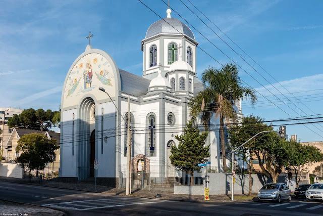 Igreja da Paróquia Nossa Senhora Auxiliadora, da Igreja Greco-Católica Ucraniana localizada na Rua Marim Afonso, em Curitiba.