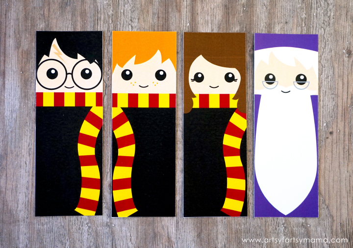 photo about Printable Harry Potter Bookmarks identify Totally free Printable Harry Potter Bookmarks artsy-fartsy mama