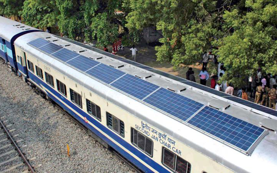 First Versions: the first solar-powered train