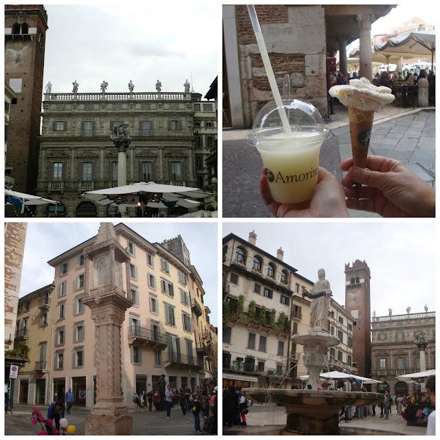 Um dia em Verona - Piazza delle Erbe
