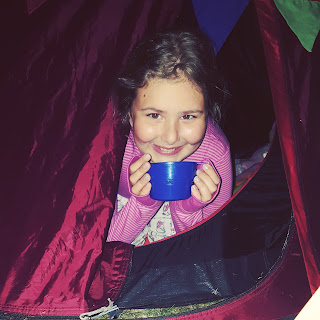 Top Ender camping in the Back Garden
