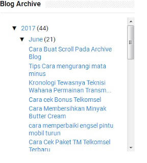 Contoh scroll pada archive blog