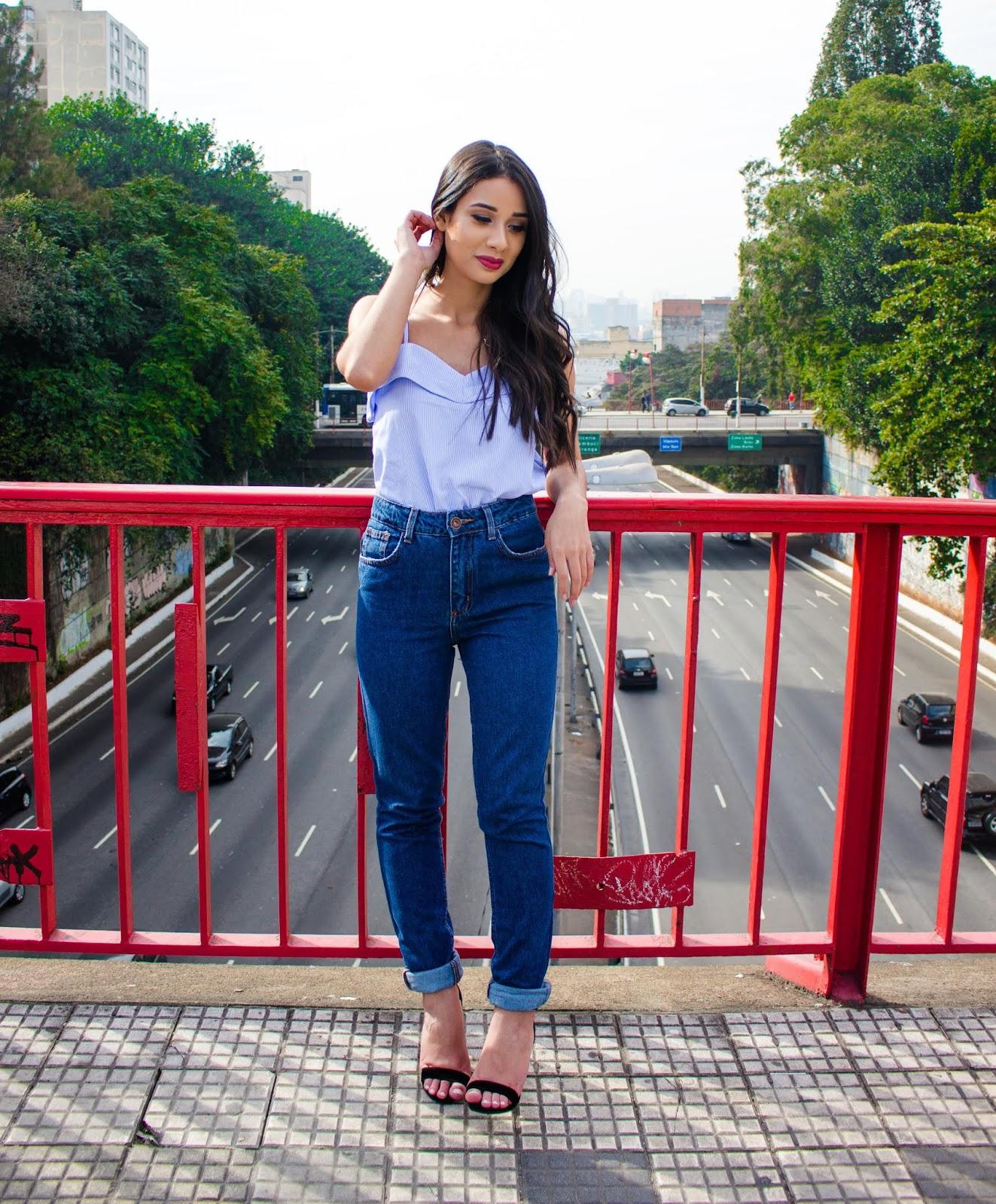 Look do Dia: Calça Mom Jeans + Blusa de Alça