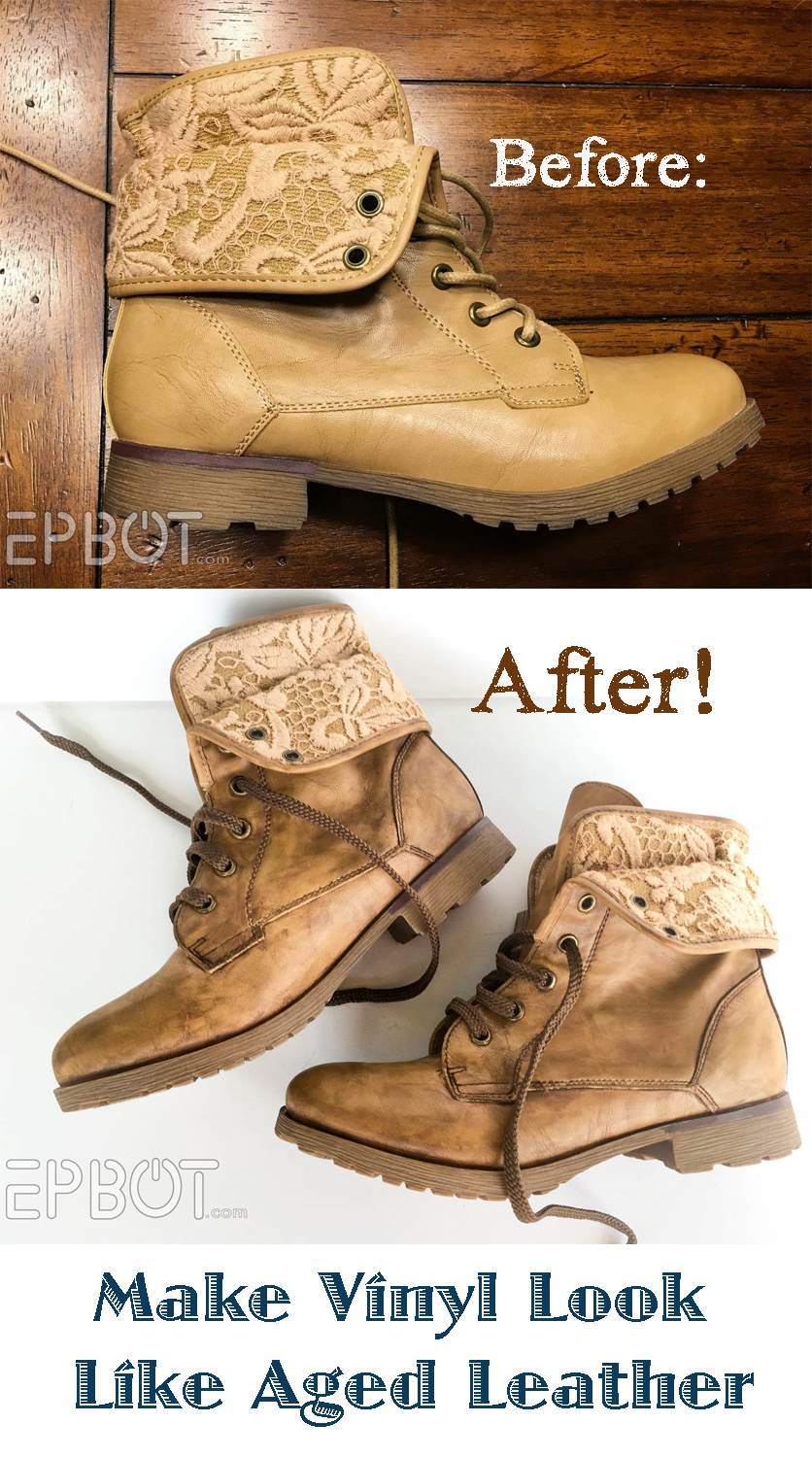 How To Make Vinyl Boots Look Like Aged