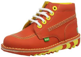 Kickers Kick Hi Swizz Leather Red/yellow Infant, Boys' Ankle Boots, 5 Child UK £16.50