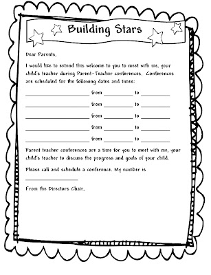 Learning and Teaching With Preschoolers Parent Teacher Conferences