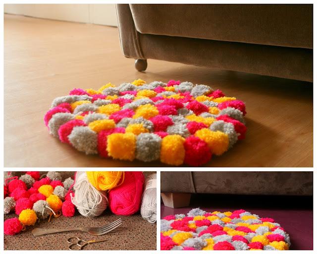 vida nullvier bam bam pom pom das pom pom teppich diy. Black Bedroom Furniture Sets. Home Design Ideas