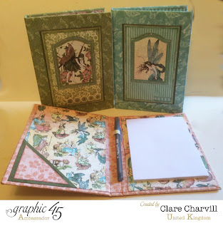 Note book holder Once Upon a Spring Time Clare Charvill Graphic 45