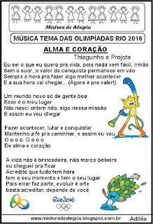 Música tema das olimpíadas 2016