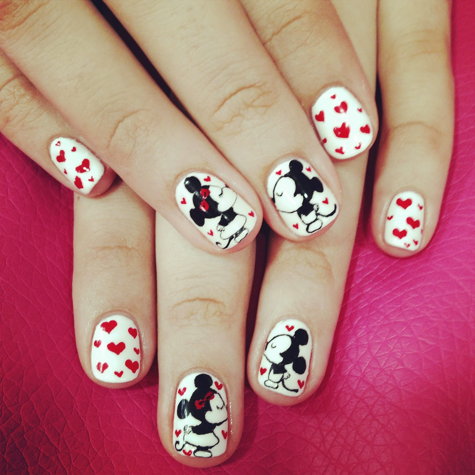 Mickey Mouse Nails: Pixels Thoughts & Words