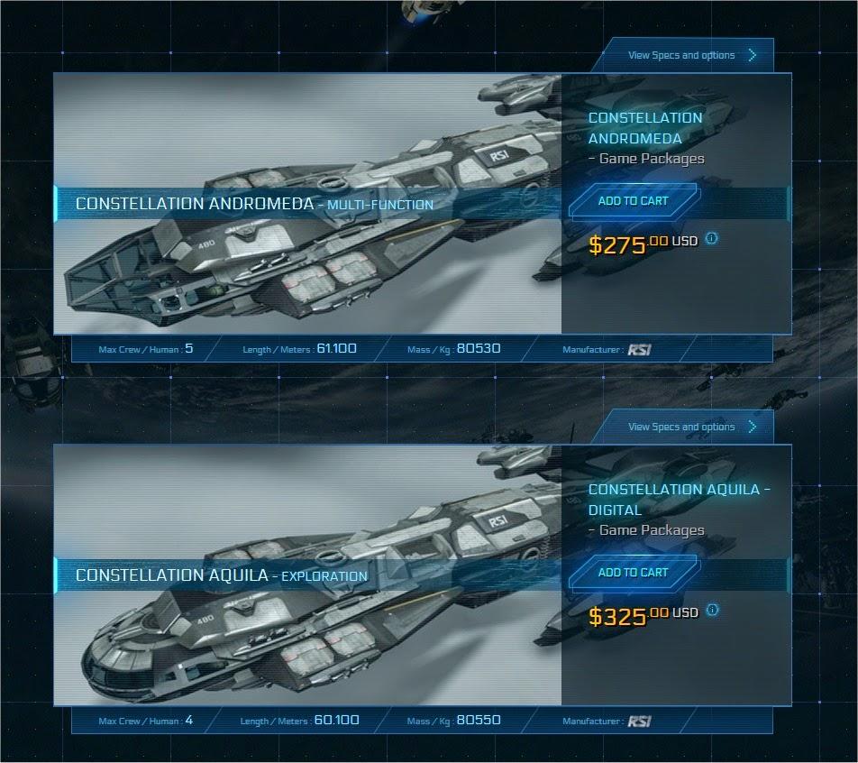 Star Citizen teure Schiffe