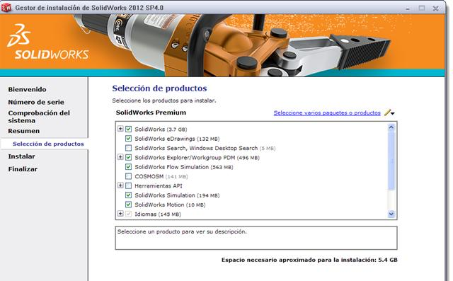 SolidWorks SP4.0 Español Full 2012 Descargar Complementos 32 y 64 Bits