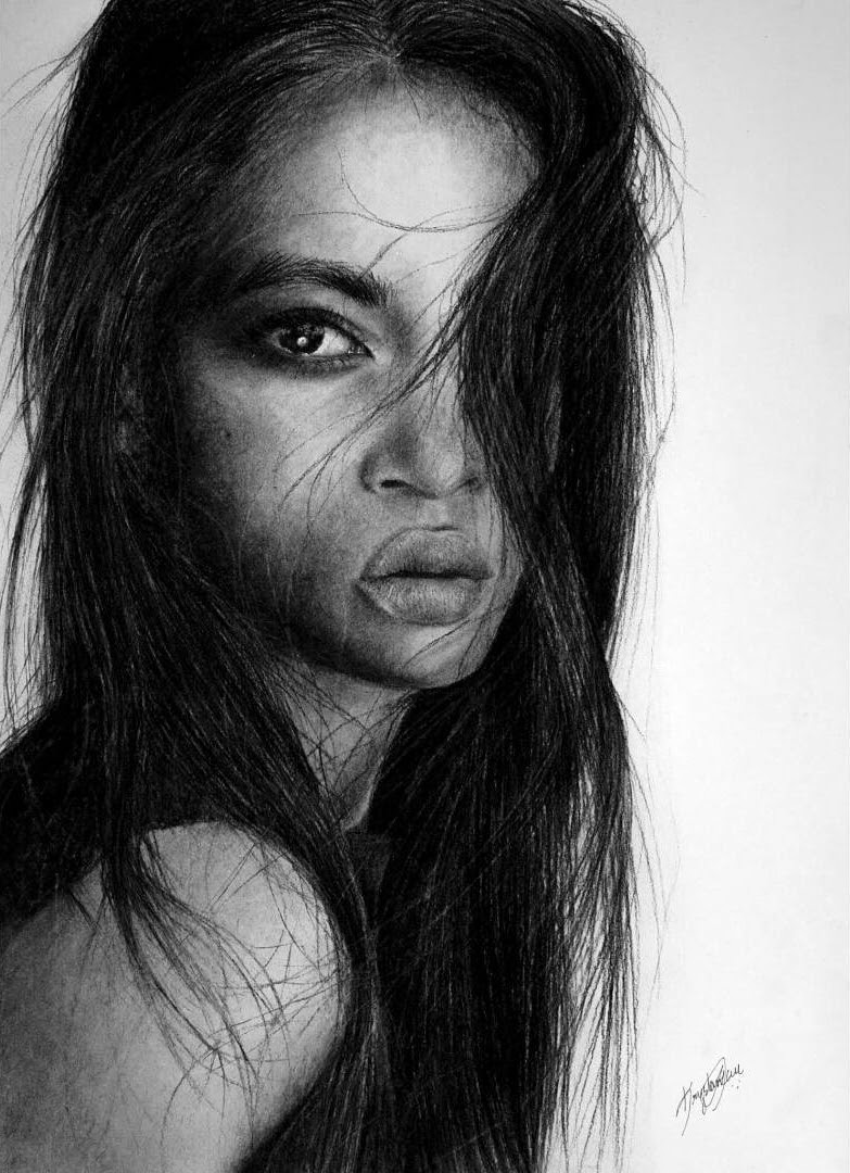05-Disappointment-Krystan-Grace-Humans-and-Dogs-Charcoal-Portrait-Drawings-www-designstack-co