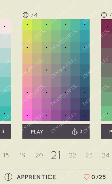 I Love Hue Apprentice Level 21 Solution, Cheats, Walkthrough
