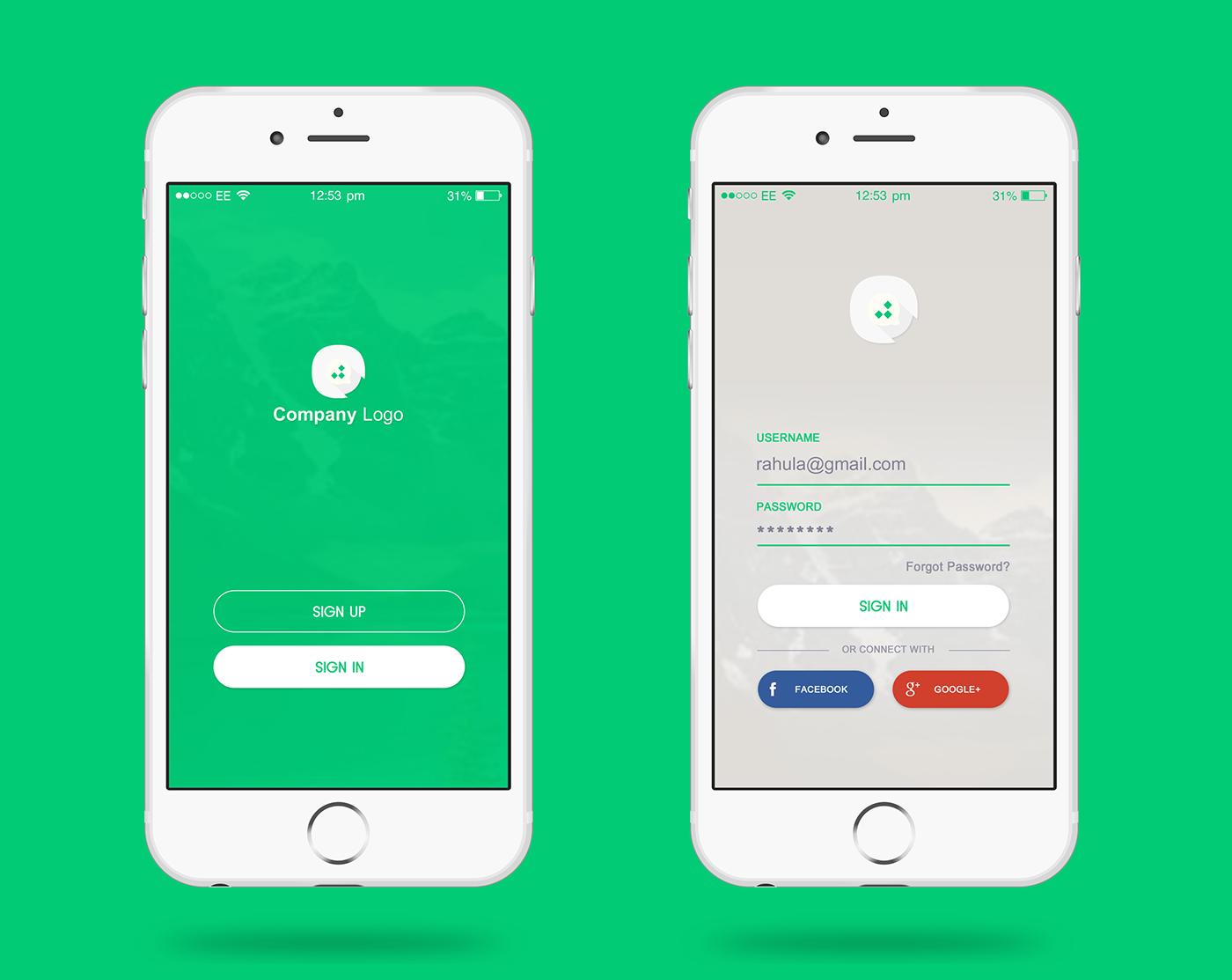 login page design - App Design Ideas