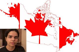 """الشابة السعودية """" رهف القنون """" تحصل على الجنسية الكندية وتغادر تايلاند"""
