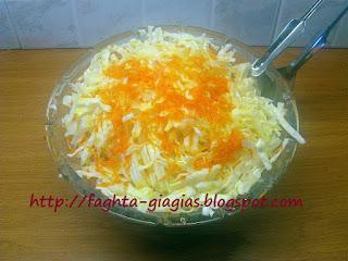 Σαλάτα λάχανο (μάπα) με καρότο - από «Τα φαγητά της γιαγιάς»